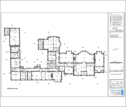Measured building surveys reflectorless edm digital Residential building plan sample